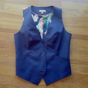 TED BAKER Daseaw Diamond Jacquard Vest NWOT SZ 2